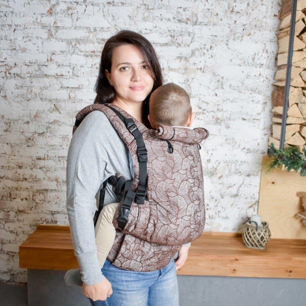 Слинг рюкзак для новорожденных Adapt шоколадный Leaf (0-48 мес)