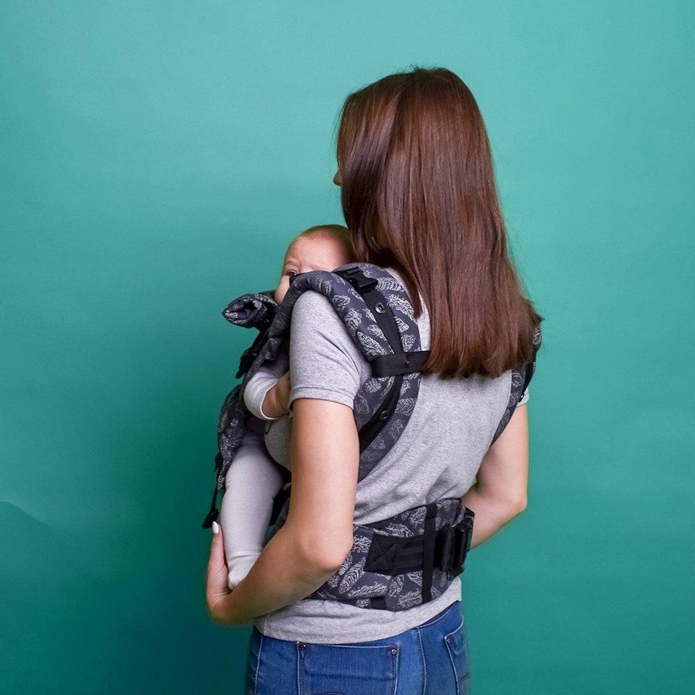 Эрго рюкзак с рождения Adapt серый Feathers (0-48 мес)