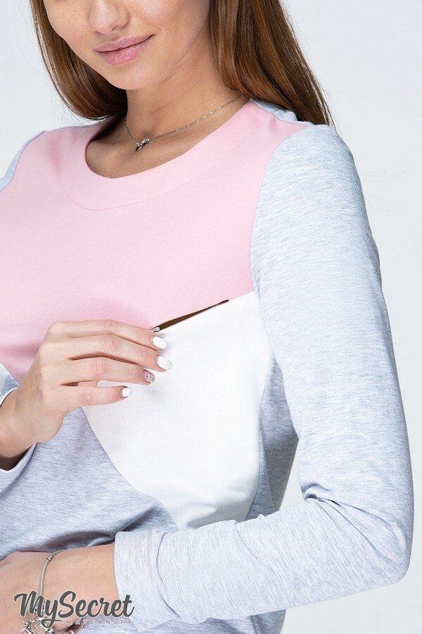 Платье для беременных и кормящих Denise light серый меланж