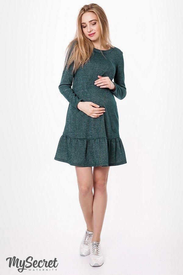 Теплое платье для беременных и кормящих Ketty бутылка
