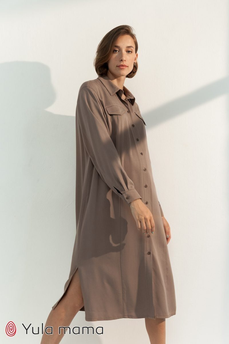 Сукня-сорочка для вагітних і годуючих Sabrina беж