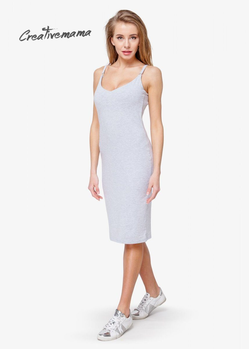 Платье топ bodycon grey (хлопок)