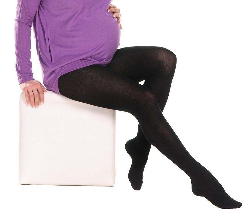 Колготки для беременных из микрофибры Velvet 100 den черные 710