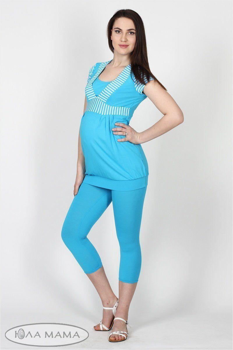 Лосини для вагітних Mia бірюза sale