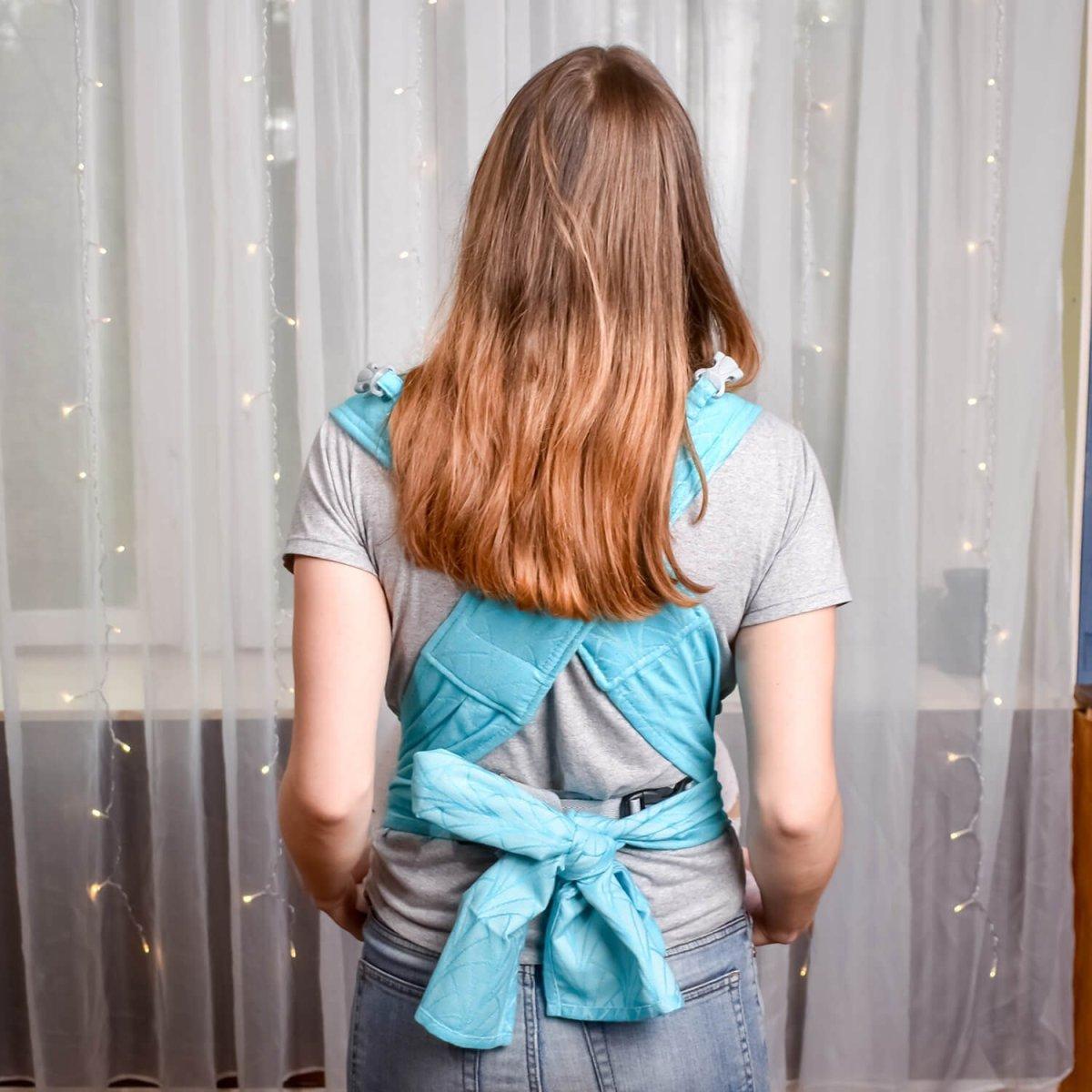 Май-слинг жаккардовый бирюзовый Lily