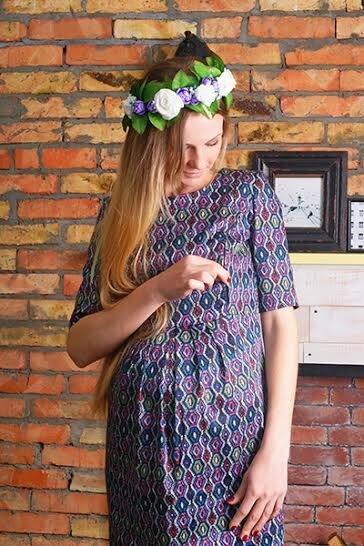 Платье для беременных Цветная краса