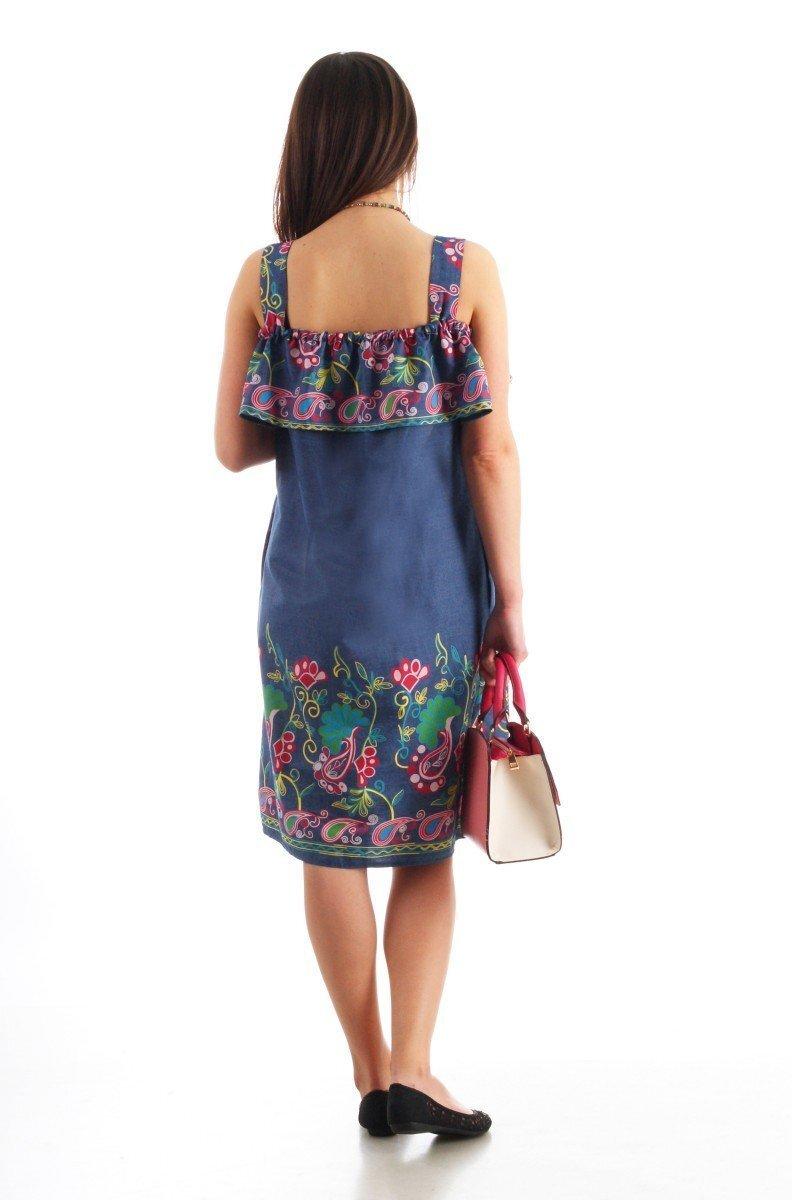 Платье Солнечная фантазия (c купонным рисунком)