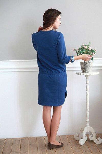 Платье Удачный день, синее