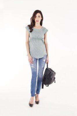 Блуза для беременных 835-130 оливковый sale