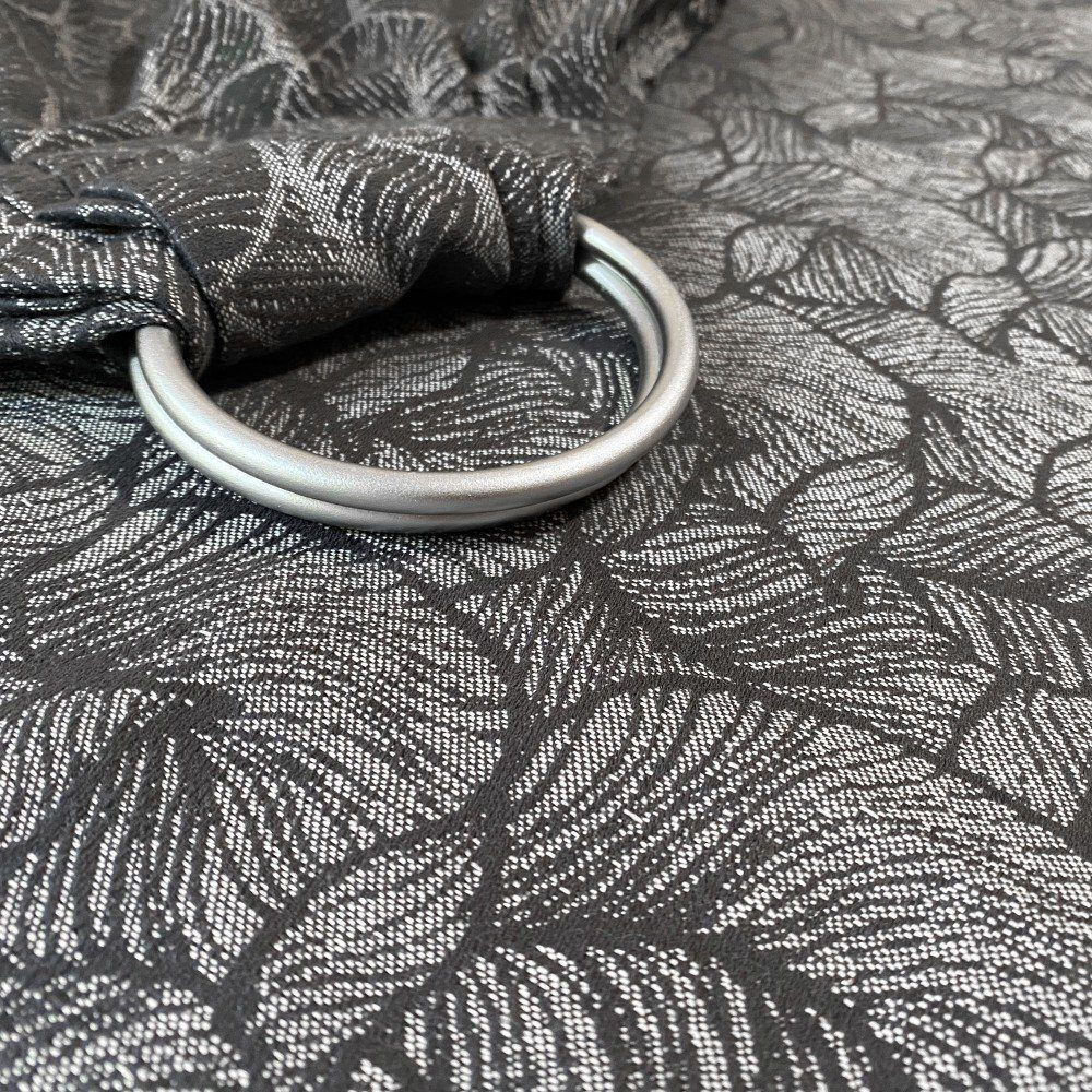 Слинг с кольцами жаккардовый серый Leaf