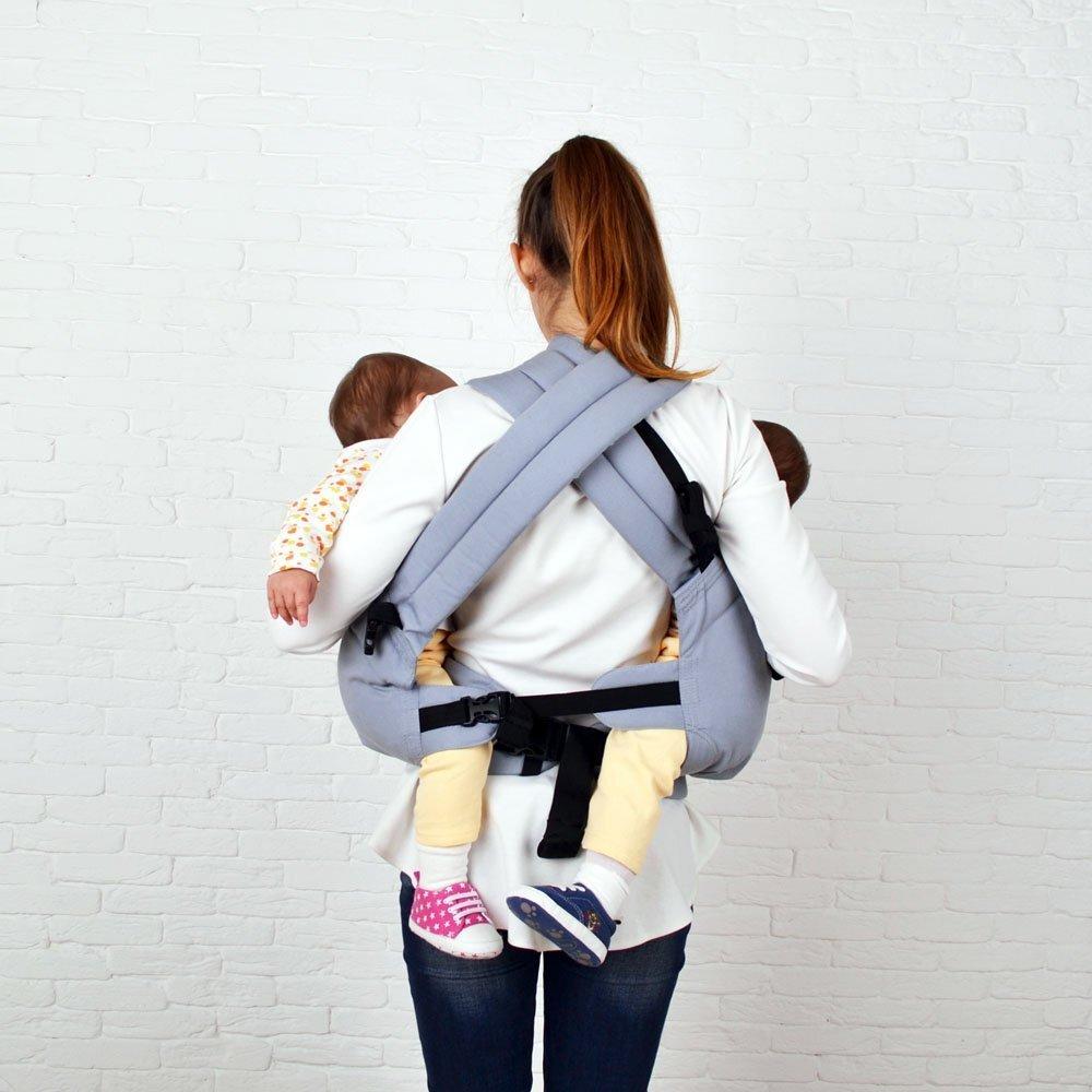 Эрго рюкзак для двойни Front Basic серый
