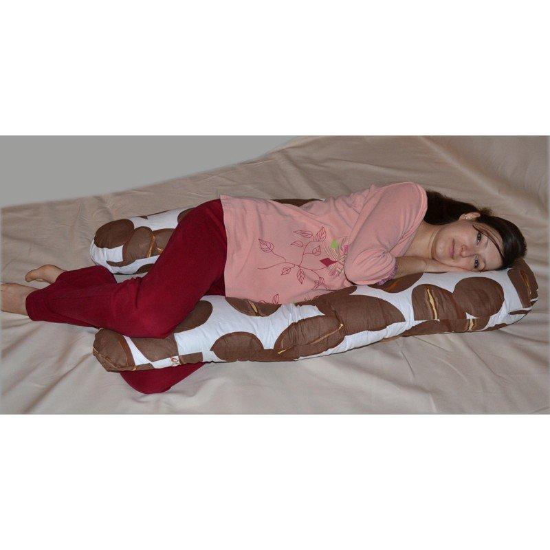 U-образная подушка для беременных Love бирюзовая