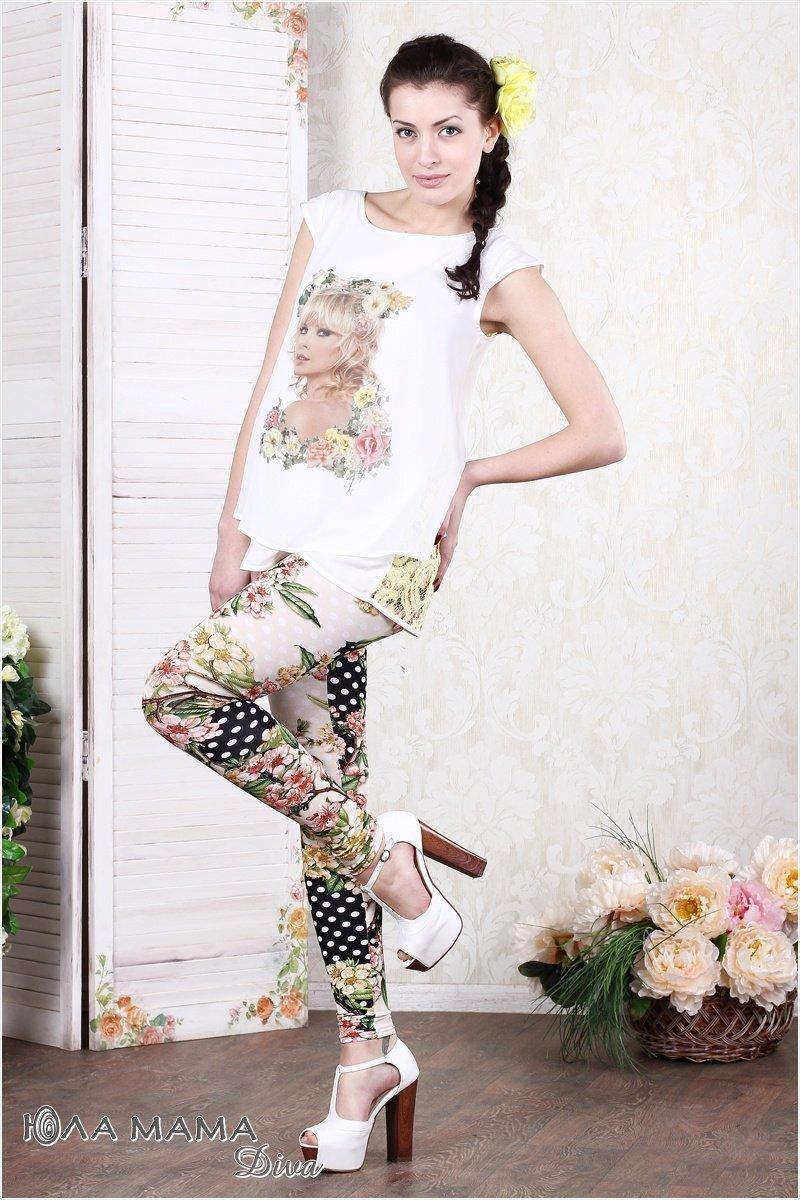 Яркие лосины для беременных Kaily luxe цветы sale